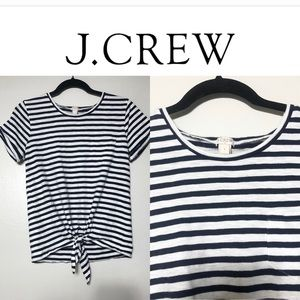 J. Crew Striped Blue & White Shirt
